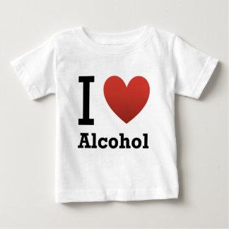 私はアルコールを愛します ベビーTシャツ