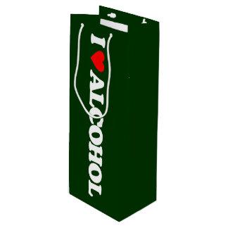 私はアルコールを愛します ワインギフトバッグ