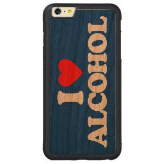 私はアルコールを愛します CarvedチェリーiPhone 6 PLUSバンパーケース