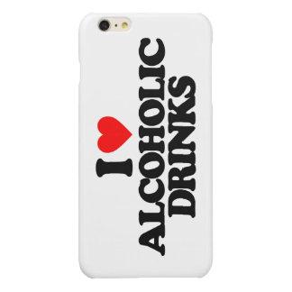 私はアルコール飲料を愛します 光沢iPhone 6 PLUSケース