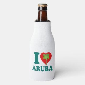私はアルバのヤシの木を愛します ボトルクーラー