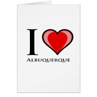 私はアルバカーキを愛します カード