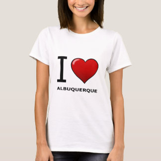 私はアルバカーキ、NM -ニューメキシコ--を愛します Tシャツ