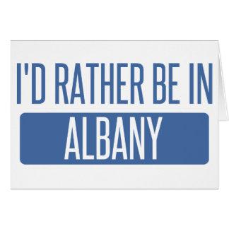 私はアルバニーNYにむしろいます カード