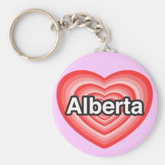 私はアルバータを愛します。 私はアルバータ愛します。 ハート キーホルダー