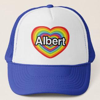私はアルバートの虹のハートを愛します キャップ