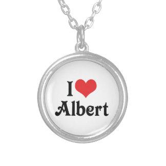 私はアルバートを愛します シルバープレートネックレス