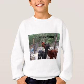 私はアルパカを愛します スウェットシャツ