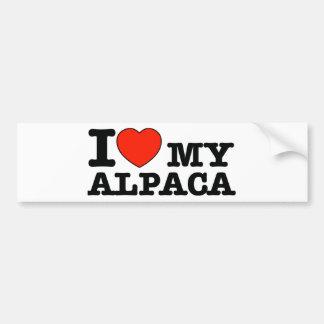 私はアルパカを愛します バンパーステッカー
