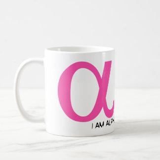 私はアルファオメガです コーヒーマグカップ