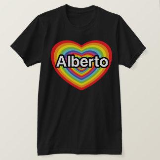 私はアルベルトの虹のハートを愛します Tシャツ