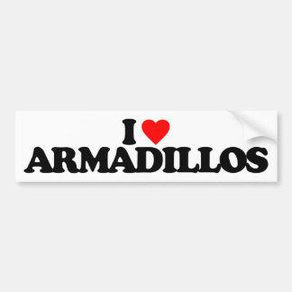 私はアルマジロを愛します バンパーステッカー