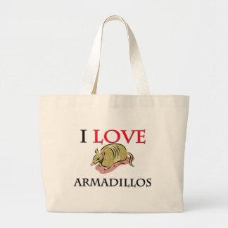 私はアルマジロを愛します ラージトートバッグ