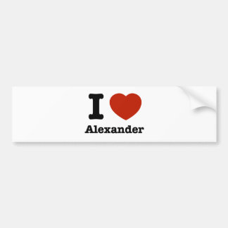 私はアレキサンダーを愛します バンパーステッカー
