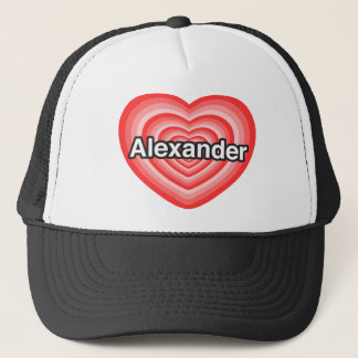 私はアレキサンダーを愛します。 私はアレキサンダー愛します。 ハート キャップ