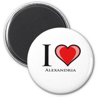 私はアレキサンドリアを愛します マグネット
