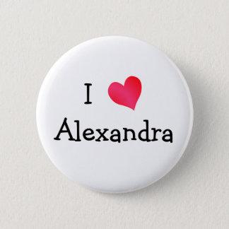 私はアレキサンドリアを愛します 5.7CM 丸型バッジ