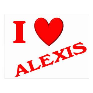 私はアレキシスを愛します ポストカード