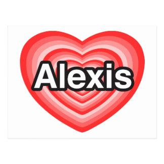 私はアレキシスを愛します。 私はアレキシス愛します。 ハート ポストカード