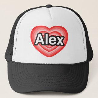 私はアレックスを愛します。 私はアレックス愛します。 ハート キャップ