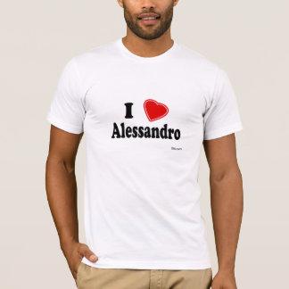 私はアレッサンドロを愛します Tシャツ