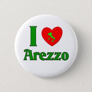 私はアレッツォイタリアを愛します 5.7CM 丸型バッジ