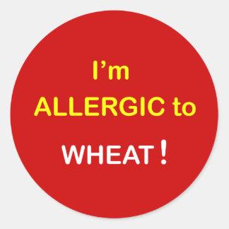 私はアレルギー-ムギです ラウンドシール