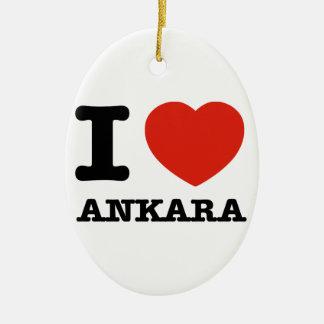私はアンカラを愛します セラミックオーナメント
