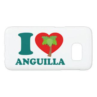 私はアングィラを愛します SAMSUNG GALAXY S7 ケース