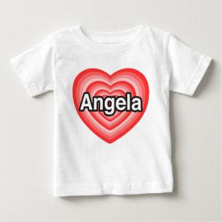 私はアンジェラを愛します。 私はアンジェラ愛します。 ハート ベビーTシャツ