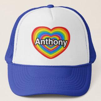 私はアンソニーを愛します。 私はアンソニー愛します。 ハート キャップ