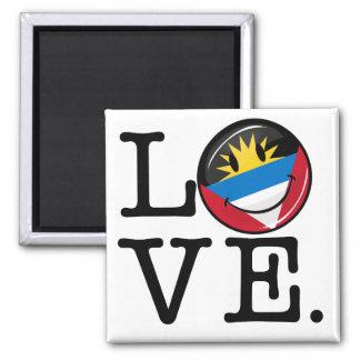 私はアンチグアバーブーダの微笑の旗を愛します マグネット