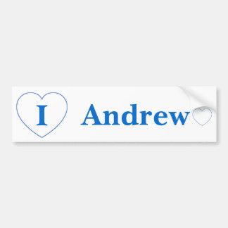 私はアンドリューを愛します バンパーステッカー