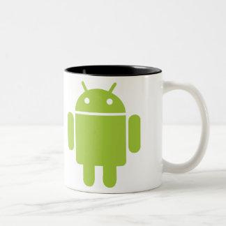 私はアンドロイドを愛します ツートーンマグカップ