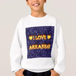 私はアーカンソーの火および炎を愛します スウェットシャツ