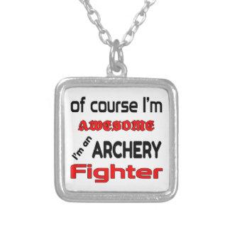 私はアーチェリーの戦闘機です シルバープレートネックレス
