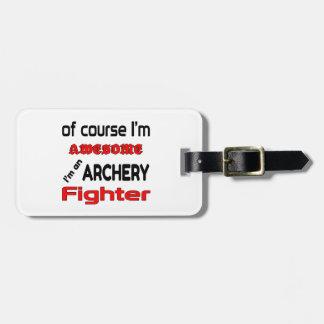 私はアーチェリーの戦闘機です ラゲッジタグ