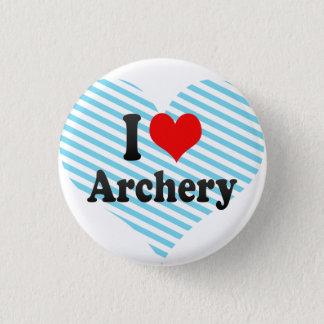 私はアーチェリーを愛します 3.2CM 丸型バッジ