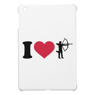私はアーチェリーを愛します iPad MINIケース