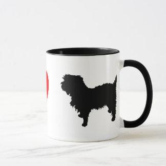 私はアーフェンピンシャーのマグを愛します マグカップ