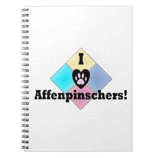 私はアーフェンピンシャーを愛します ノートブック