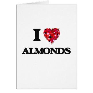 私はアーモンドの食糧デザインを愛します カード