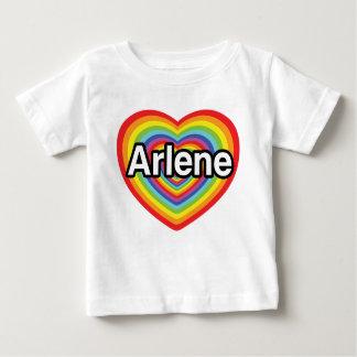 私はアーリーンの虹のハートを愛します ベビーTシャツ
