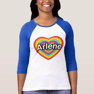 私はアーリーンの虹のハートを愛します Tシャツ