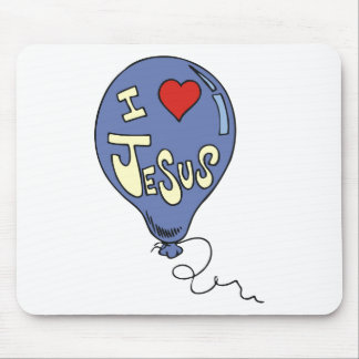 私はイエス・キリストの気球を愛します マウスパッド