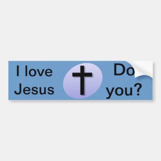 私はイエス・キリストを愛します。 か。 バンパーステッカー