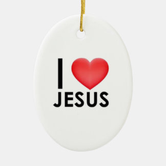 私はイエス・キリストを愛します セラミックオーナメント
