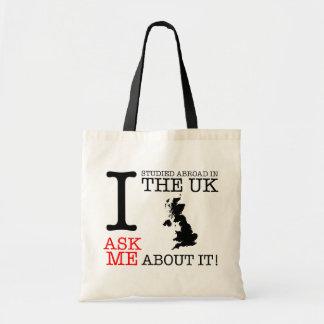 私はイギリスで外国に調査しました! トートバッグ