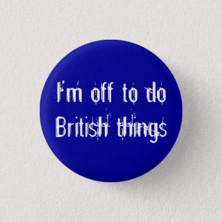私はイギリスの事をするべきです 3.2CM 丸型バッジ