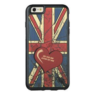 私はイギリス動揺してな旗を愛します オッターボックスiPhone 6/6S PLUSケース